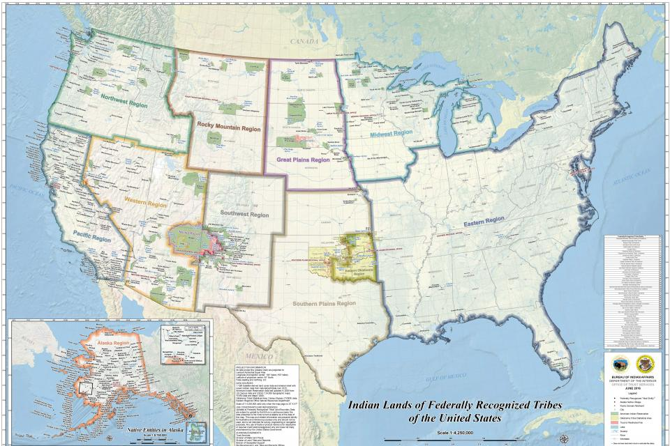 Map of Indian Lands in the United States