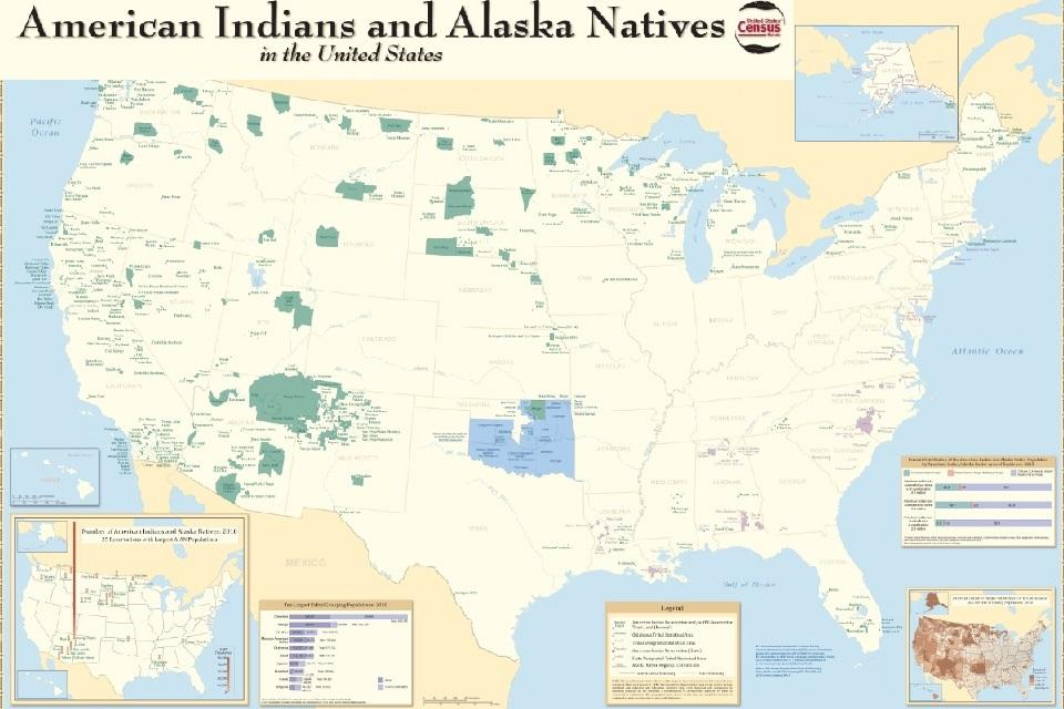 American Indians and Alaska Natives in US Map